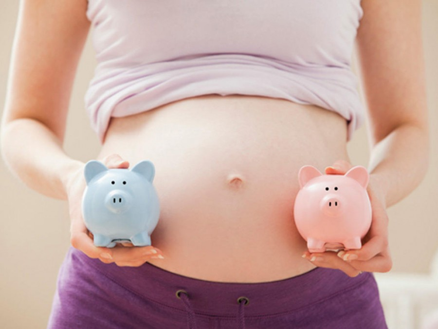 Живот при беременности двойней